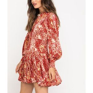 Free People Heartbeats Boho Mini Dress Rust XS NWT